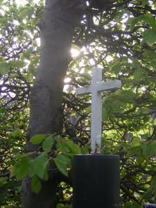witte kruis van het kerkhof