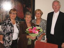 v.l.n.r. Janny, Mariet, Puck en Theo ten Bruin, diaken