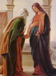 Maria bezoekt haar nicht Elizabeth.