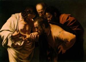 De ongelovige Thomas, geschilderd door Caravaggio