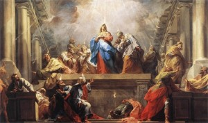 Pinksteren 'La Pentecote' van Jean II Restout, 1732