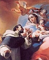 Maria schenkt de Rozenkrans aan St. Dominicus