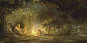 kerst-tafereel geschilderd door Rembrandt van Rijn