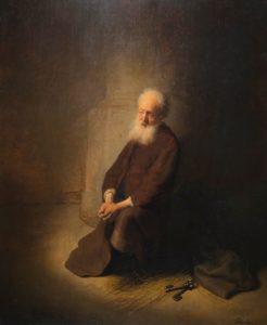 De knielende Petrus door Rembrandt