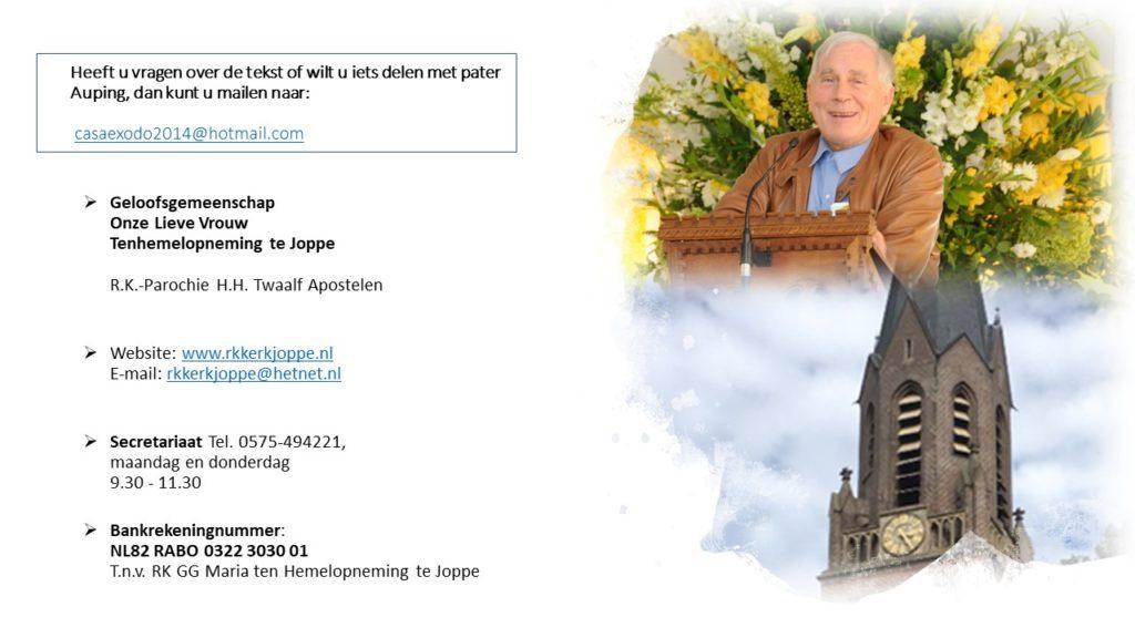 Pater John Auping SJ Mexico, R.K.-Kerk OLV Tenhemelopneming Joppe
