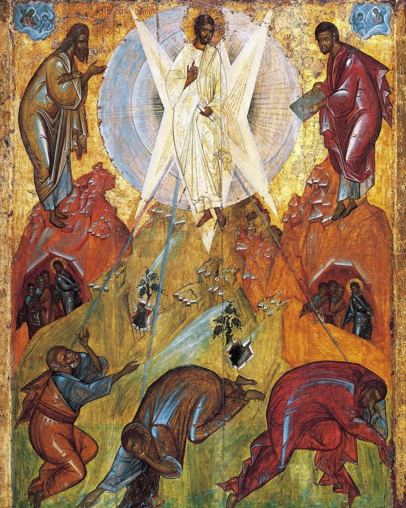 Icoon Transformatie, Theophanes de Griek, (ongeveer 1340 – na 1405), State Tretyakov Gallery, Moskou, Rusland